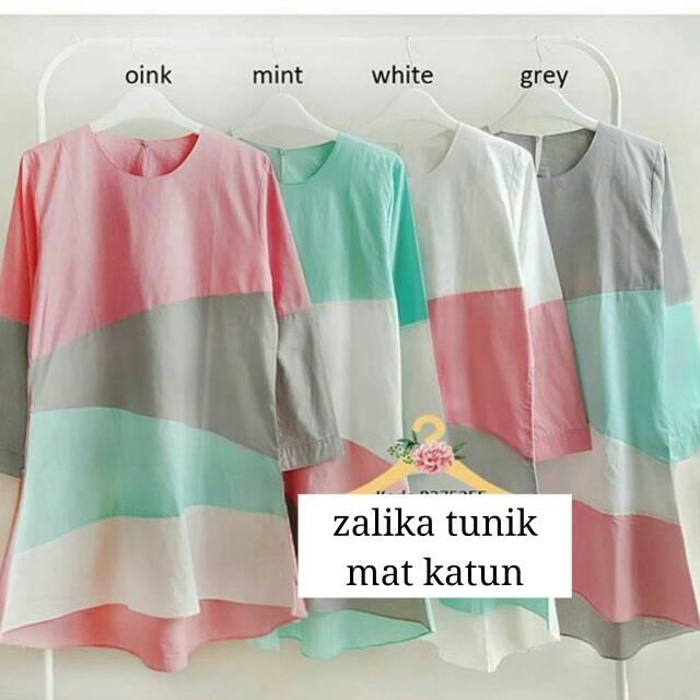 Baju Atasan Wanita/Zalika Tunik/Baju Cewe Murah/Hijab Blouse