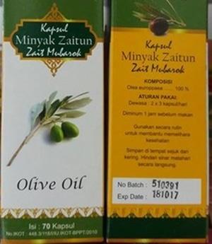 kapsul minyak zaitun zait mubarok olive oil 70 k
