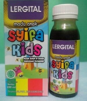 madu herbal anak syifa kids lergital menghilangkan