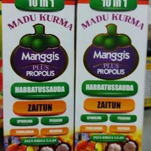 madu kurma manggis xamthone plus propolis 10 in 1