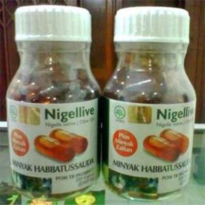 nigellive minyak habbatussauda plus zaitun 200 kap