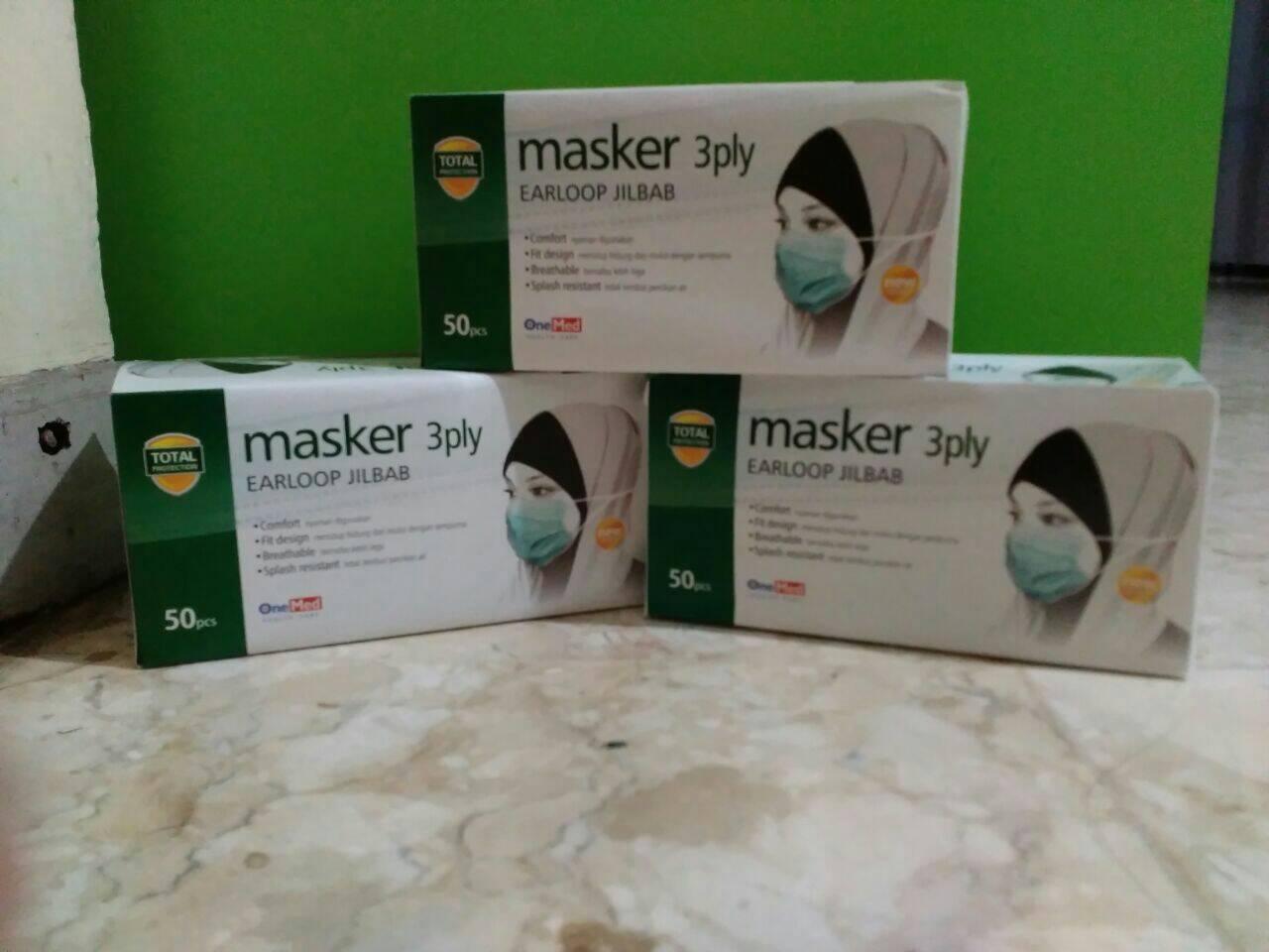Masker Hijab Earloop 3 Ply