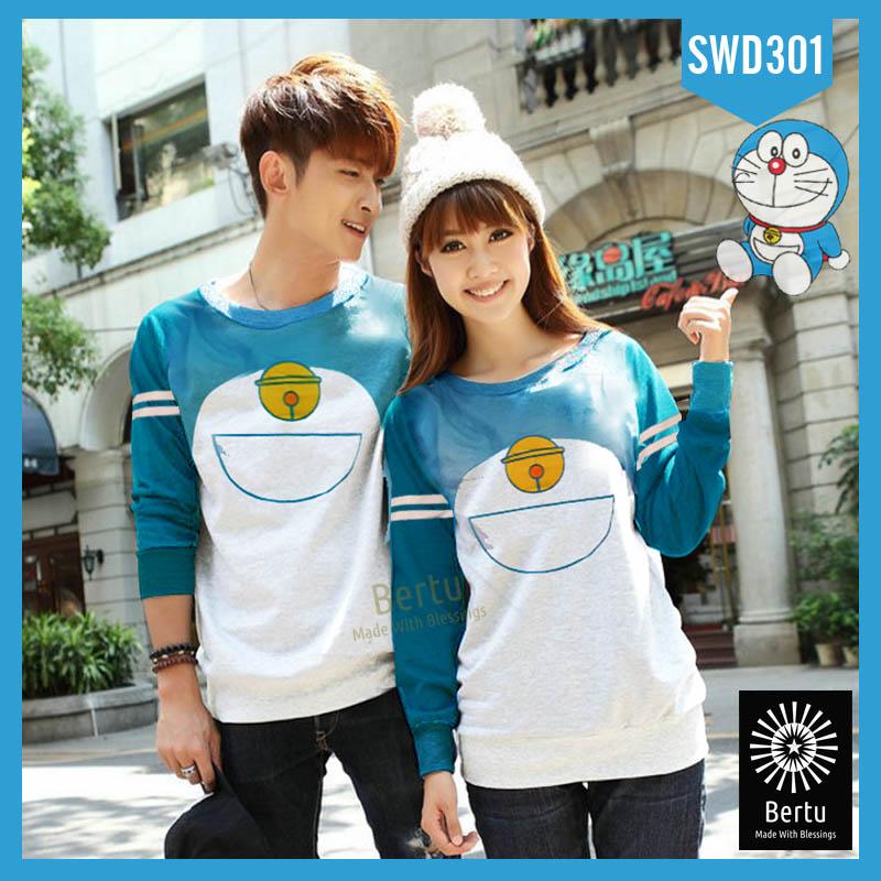 Jakarta Source Jual Sweater Doraemon Warna Kombinasi Sweater Couple GROSIR KAOS COUPLE MURAH .