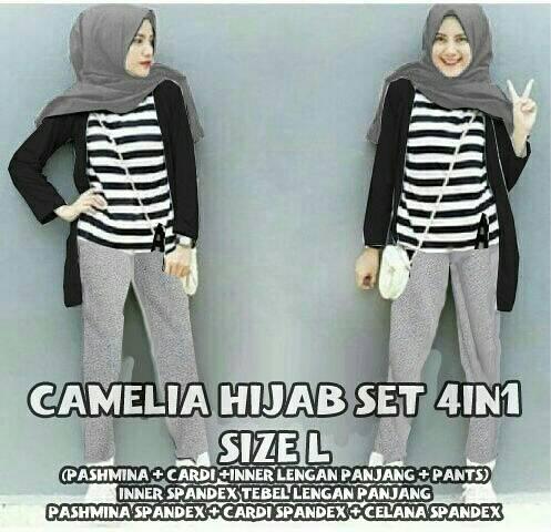 J23 - Camelia Hijab Set (4in1)
