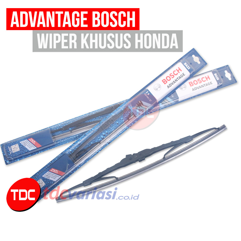 WIPER HONDA JAZZ/FIT BOSCH ADVANTAGE / ECOPLUS TDC VARIASI