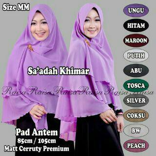 hijab kerudung khimar sa'adah pad antem