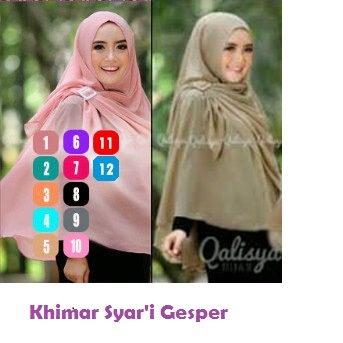 Hijab/Jilbab Khimar Syar'i Gesper