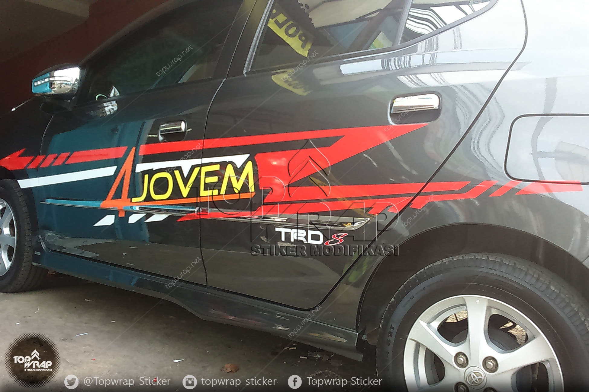 Jual Sticker Cutting Striping Sporty Agya Stiker Modifikasi Mobil