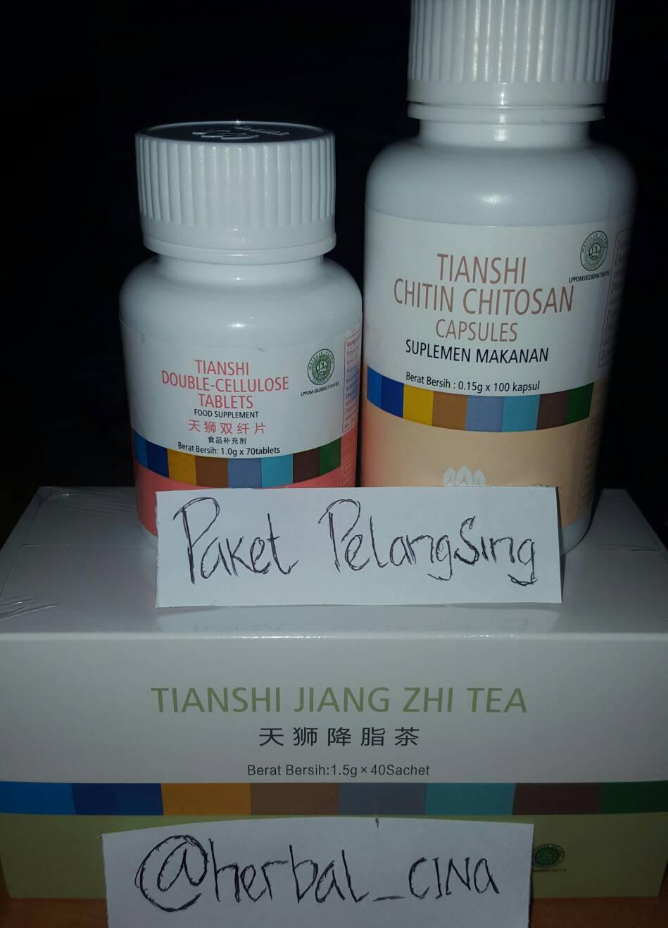 Jual Paket Pelangsing Premium Tiens Ig Herbal Cina Tokopedia Double Cellulose Tablets