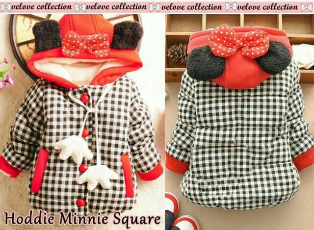 cvic-Hoddie minnie square kids - sweater anak perempuan