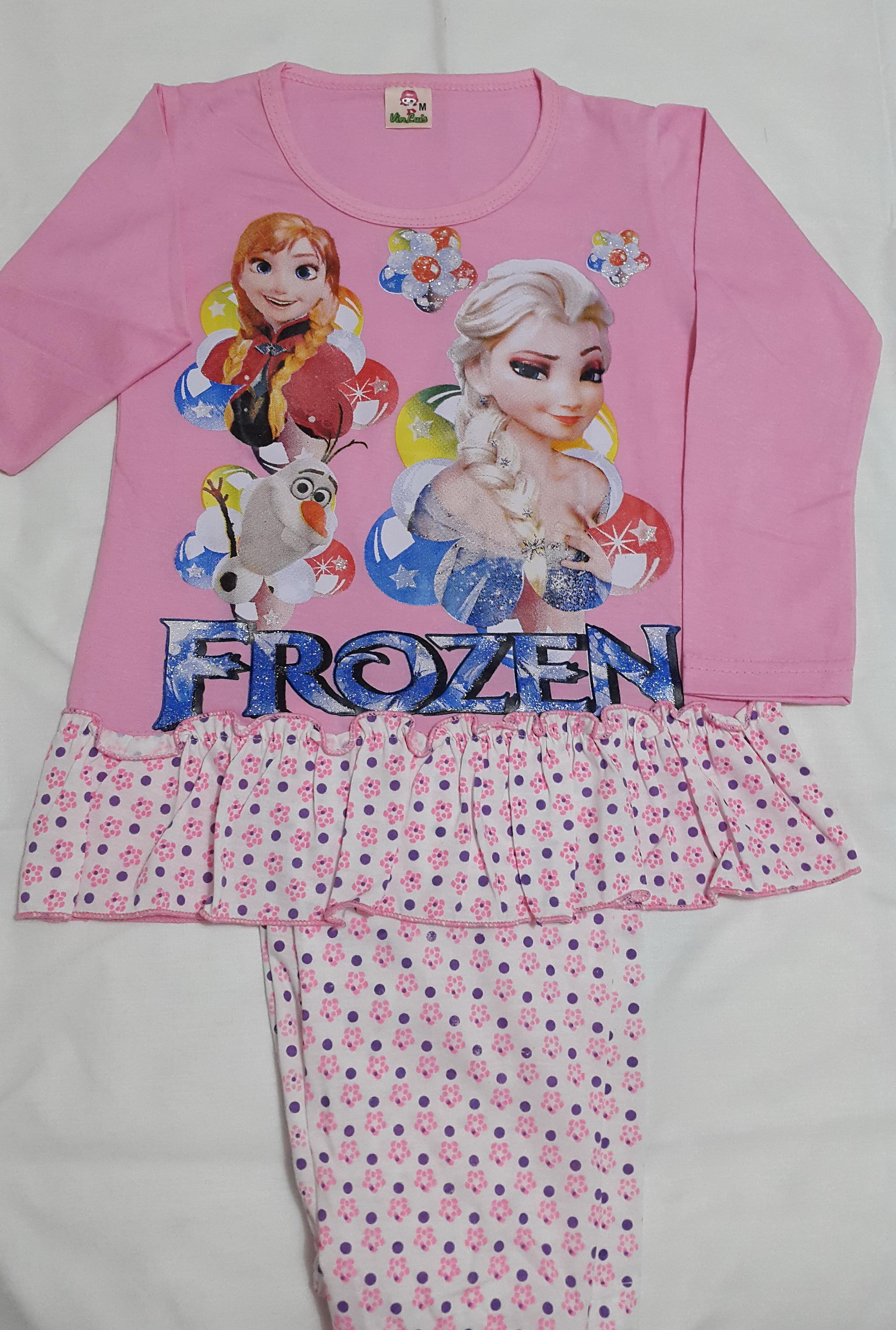 Jual FROZEN Piyama Baju Tidur Anak Perempuan Pakaian Setelan Panjang PINK All Things For Sale