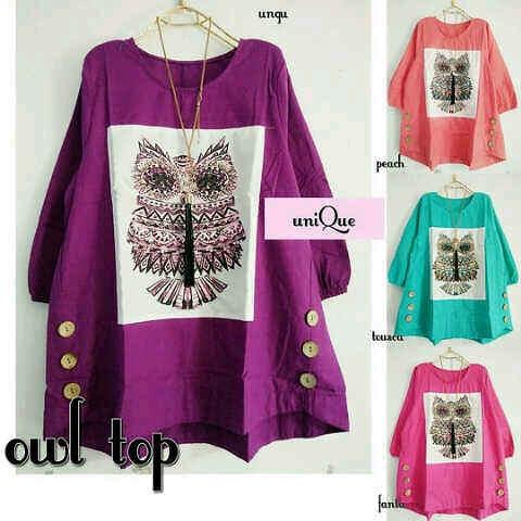 baju hijab HOTD OWL TOP MO