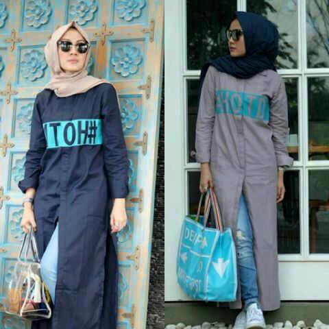 Long HOTD dress / cardigan panjang hijab outfit the day