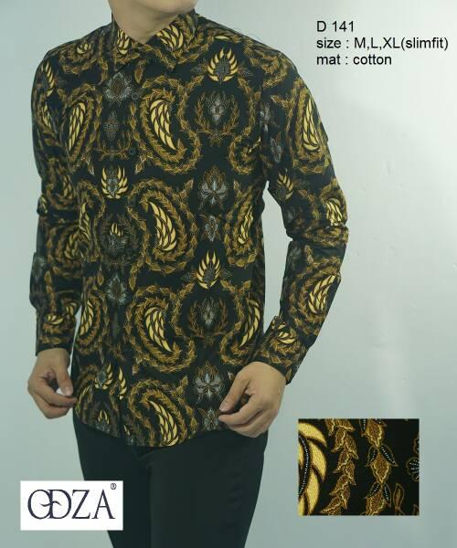 Odza Batik Kemeja Slim Fit D141 - Batik Slimfit Keren D 141