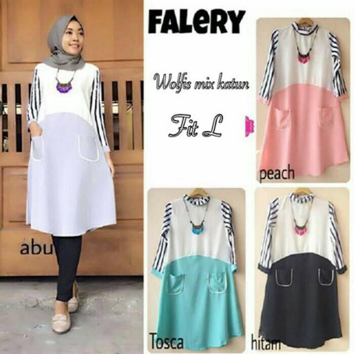 Atasan Wanita/Blouse/Baju Hijab Trendy/falery tunic
