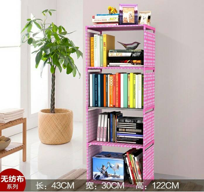 Rak Buku, Rak Serbaguna, Lemari, Tempat Penyimpanan, Rak 5 tingkat