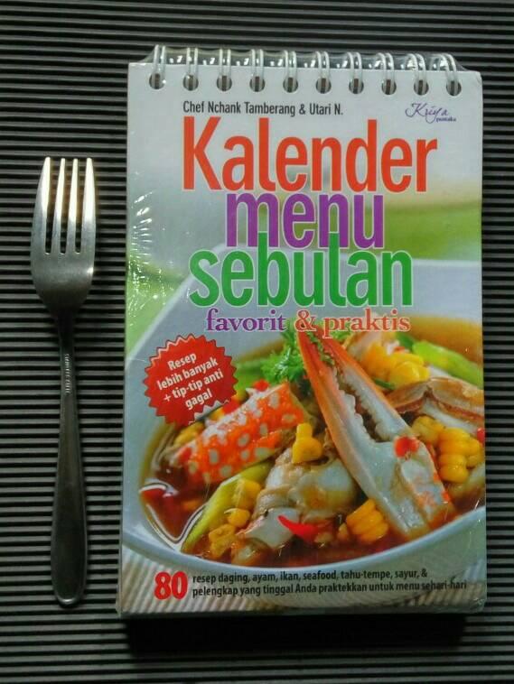 Jual Menu Resep Masakan Best Seller Kalender Menu Sebulan Family
