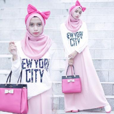 BR7688 E53 NEW YORK SET HIJAB MURAH