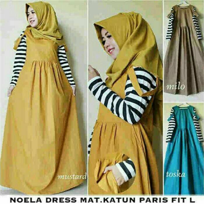Noela Dress / gamis / terusan / hijabers / supplier hijab / HOTD