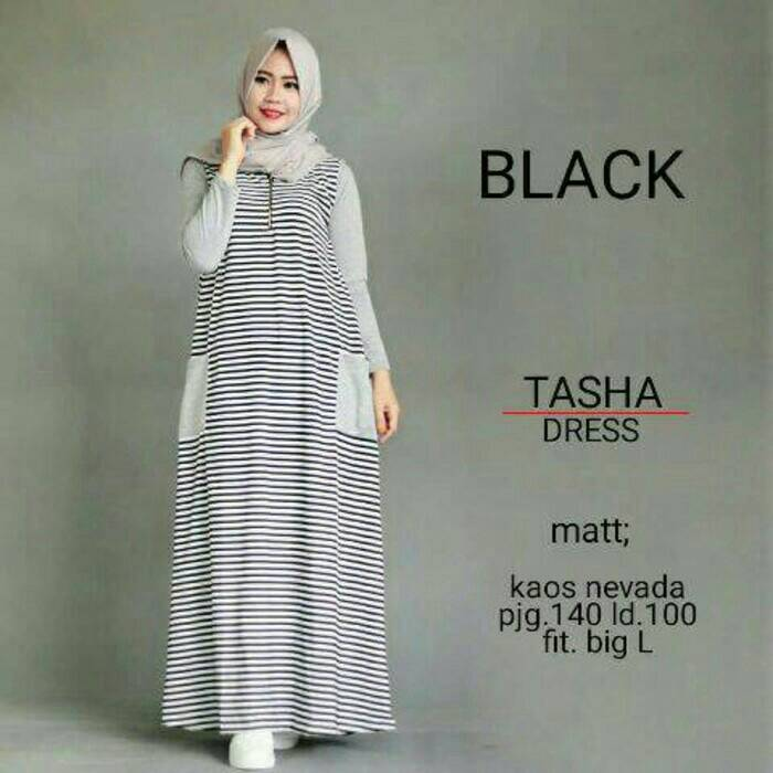Tasha Dress / gamis / baju muslim / hijab gaya baru / HOTD