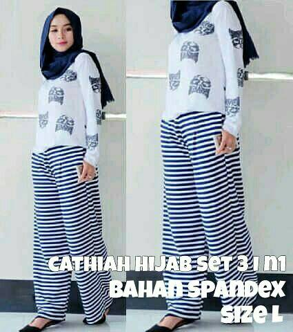 J23 - Cathiah Hijab Set (3in1)