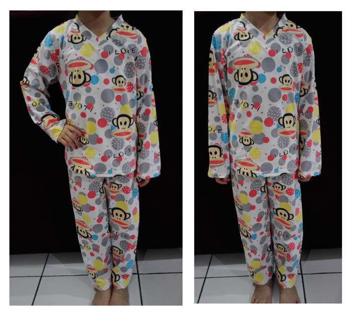 STKD239 - Setelan Anak Paul Frank White Dot I love Murah