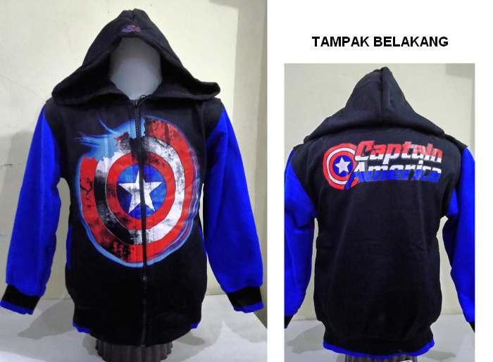 JKKDL55 - Jaket Anak Laki Captain America Shield