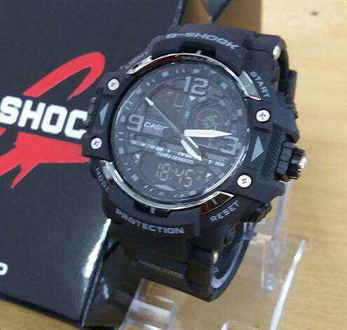 Jual Jam Tangan Pria Casio G Shock Twin Sensor Protection Black List Grey soniq watch Tokopedia