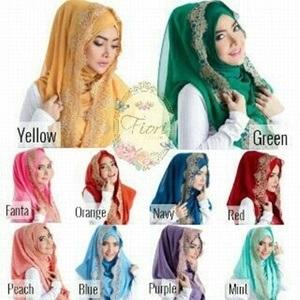 Jilbab Hijab Kerudung Muslimah Hoodie Instant Fiori