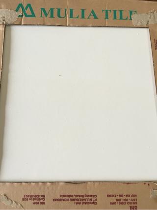 Jual  keramik  lantai  40x40  putih polos merk MULIA  Citra