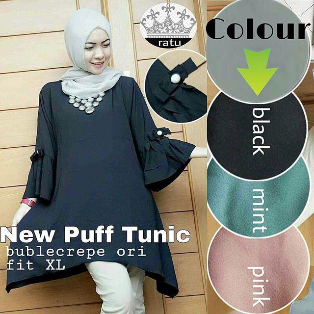 Baju Hijab Murah New Puff Tunik
