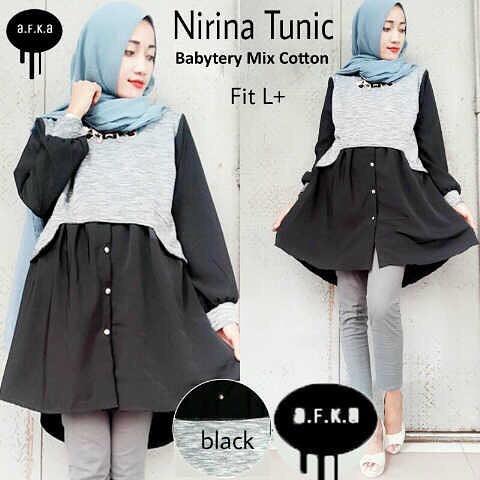 Baju Hijab Murah Nirina Tunik