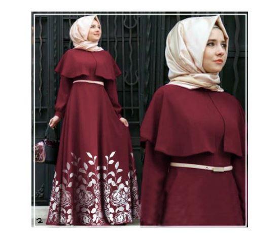 Hijab maxi andini ready maroon and green