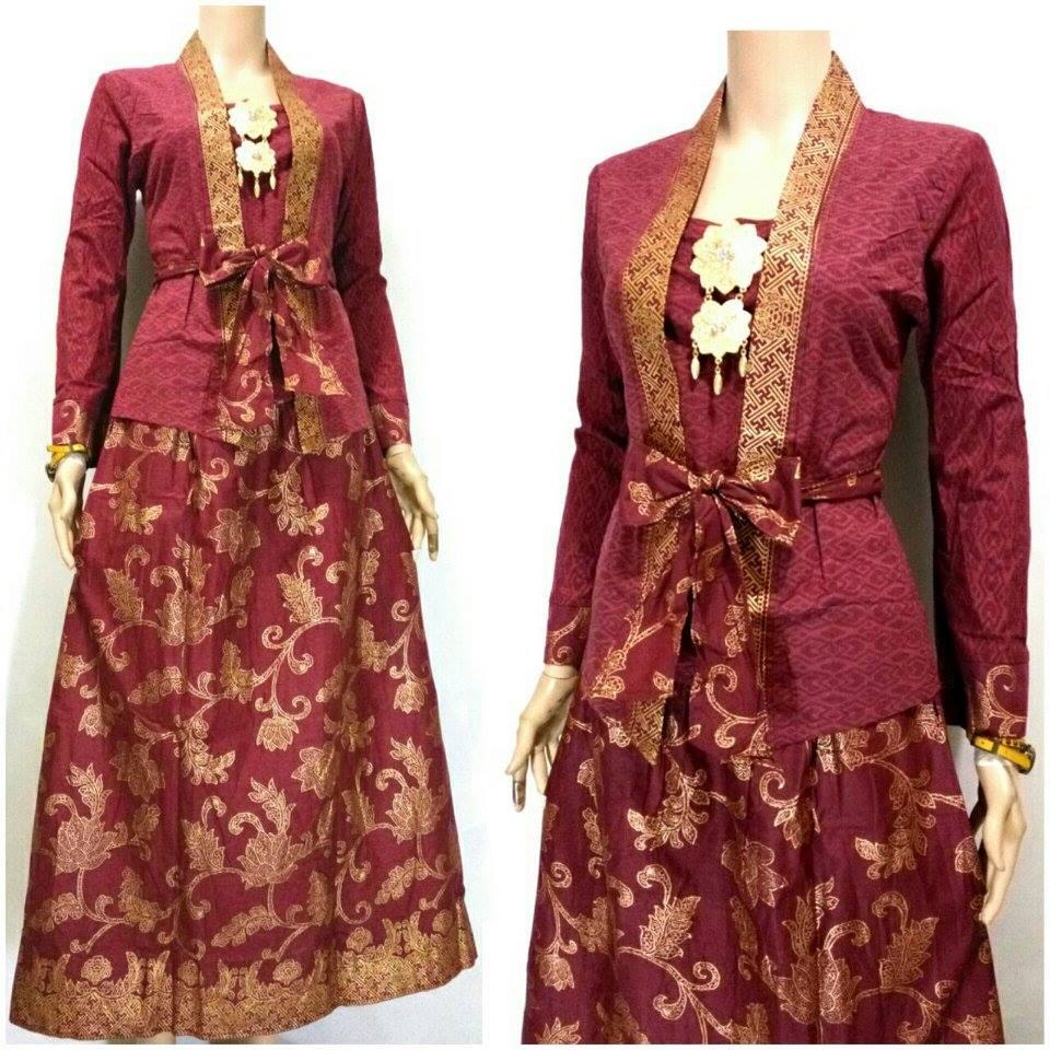 Jual Kebaya Batik Kartini Rok Blus Baju Wanita Pesta