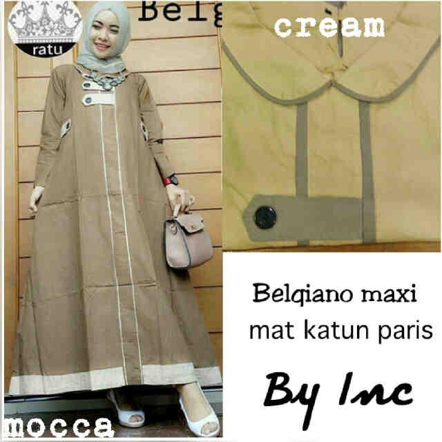 i belgiano maxi mat katun paris fit L+ _ (gamis,hijab)
