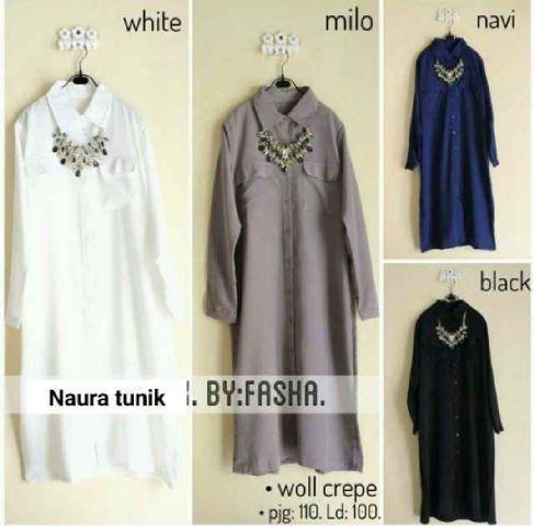 i naura tunik mat katun allsize fit L _s /blouse/atasan/muslim/hijab