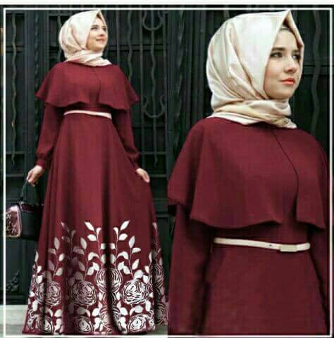 Mv-Hijab Andiani Rose Maroon