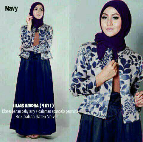 hijab amora navy