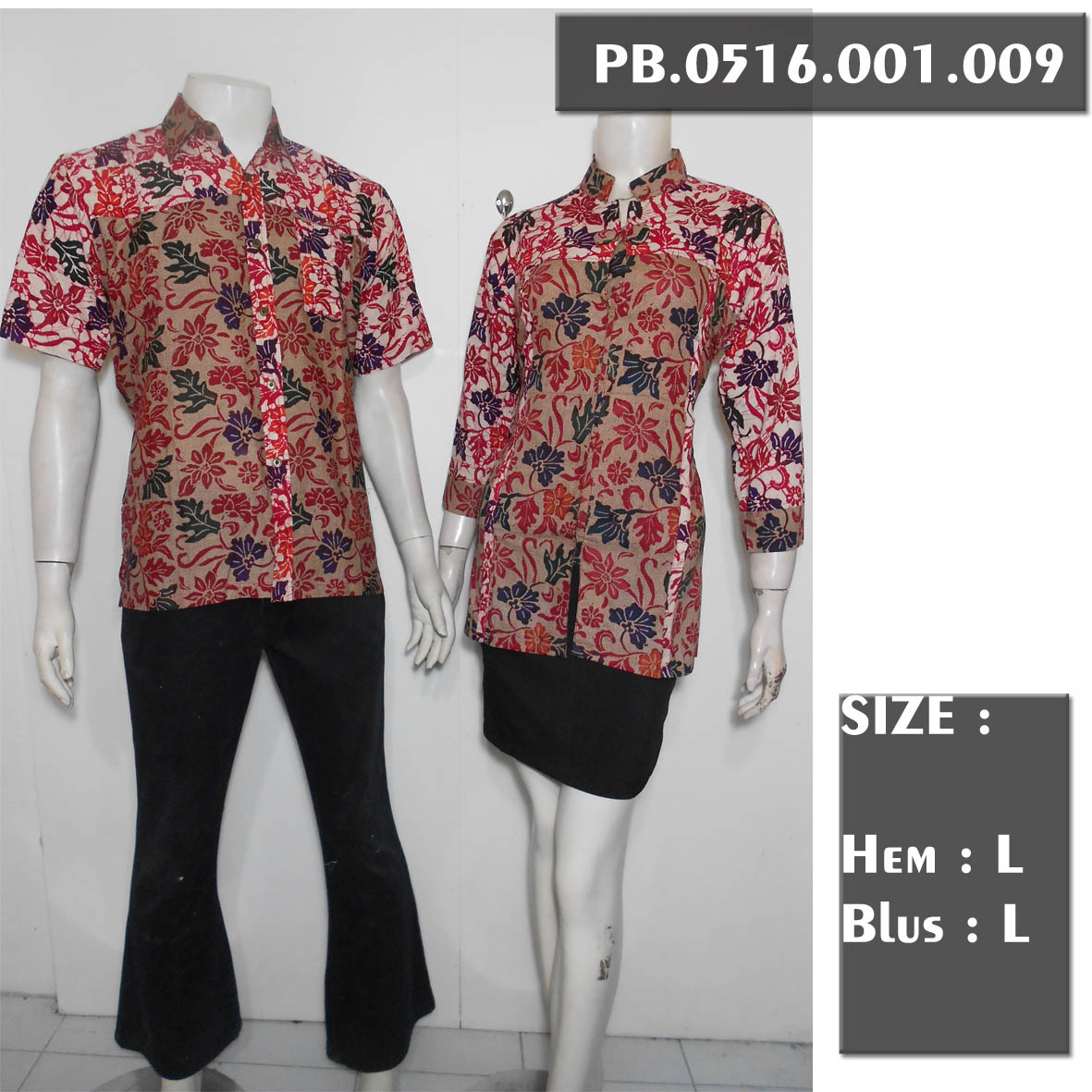 Jual Pasangan Blus Batik Lengan 7 8 Couple Batik Sarimbit