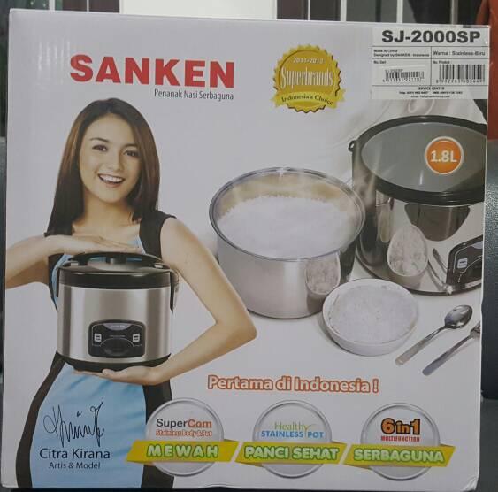 Sanken - Rice Cooker SJ - 2000SP ( Stainless )