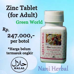 Jual Zinc Tablet Untuk Dewasa Greenworld Toko