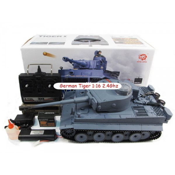 Heng Long German Tiger 1:16 2.4Ghz (Smoke and Sound) (3818-1)