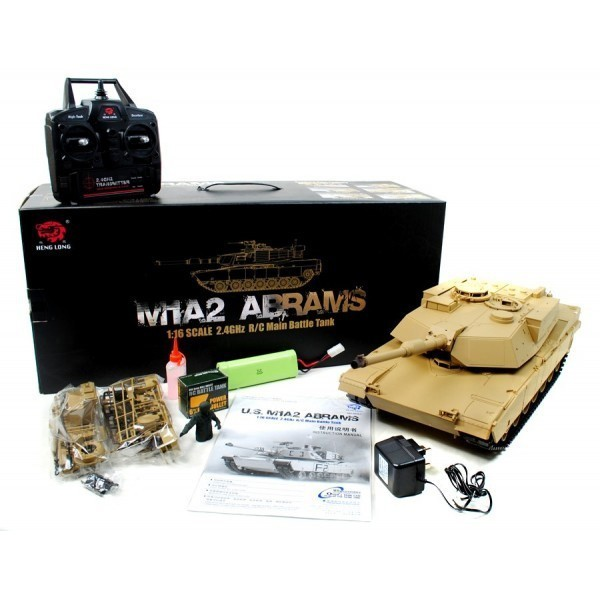Heng Long 2.4Ghz 1:16 USM1A2 ABRAMS (smoke & sound) (3918-1)
