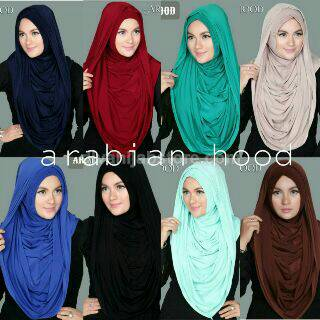 hijab/ kerudung / arabian long hoodi