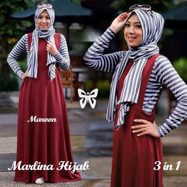 Marlina Hijab maroon.