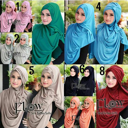 Hijab/Jilbab Syria Turban Syilla 2in1