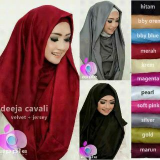 Hijab/Jilbab/kerudung hoodie syar'i Deeja Cavali