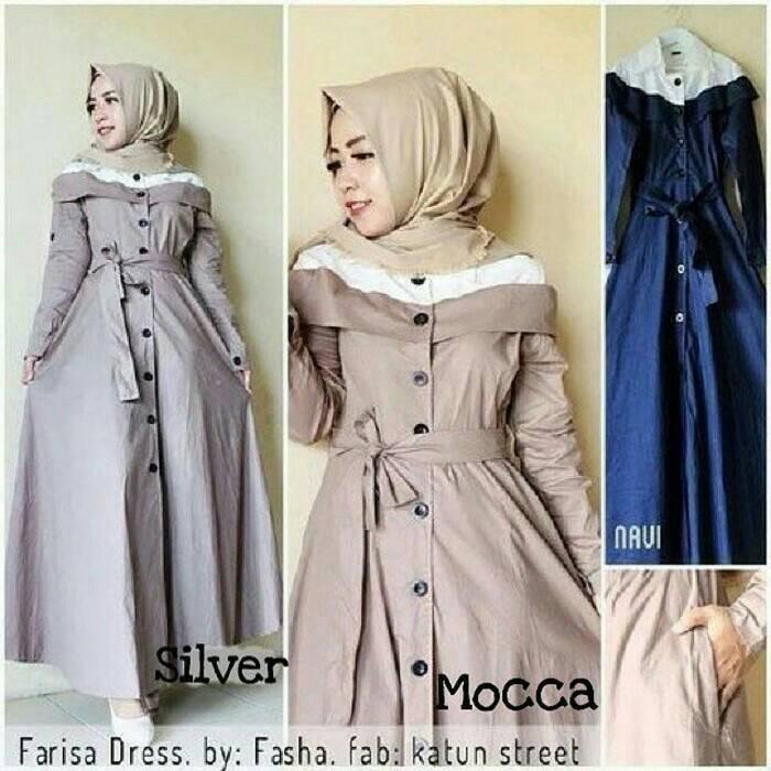 Farisa Dress / gamis / baju menyusui / long dress / hijab terbaru