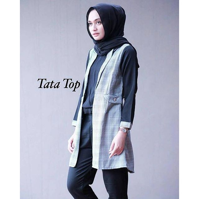Baju Hijab Murah Tata Top