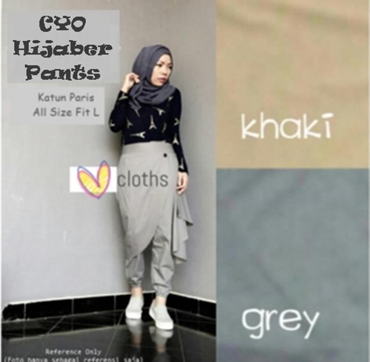 Celana Wanita Muslim Bawahan Panjang Hijab Style - Cyo Hijaber Pants